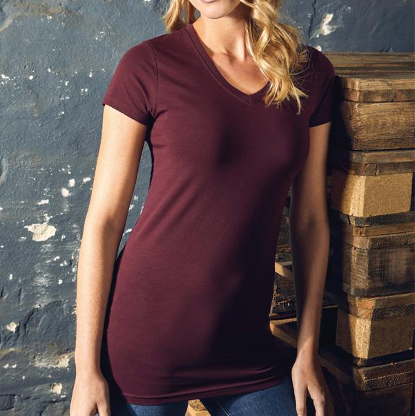 Damen Longshirt V