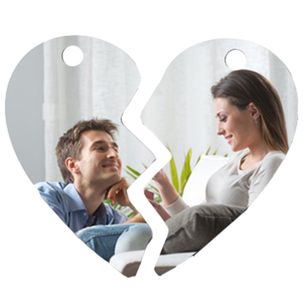 Schlüsselanhänger Herz 2 teilig