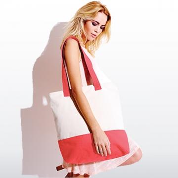 Einkaufstasche zweifarbig