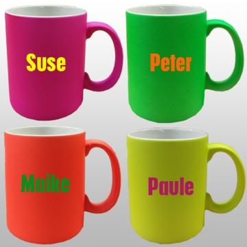 Kaffeetassen neon