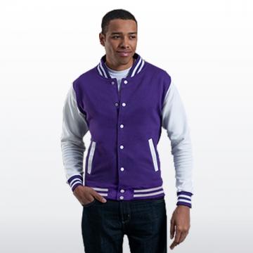 College Jacke mit Streifen