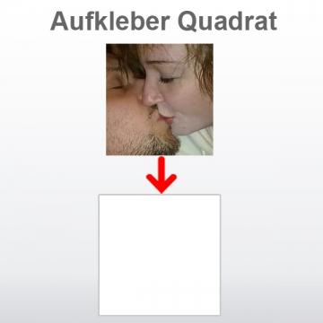 Aufkleber Quadrat